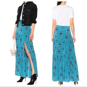 Veronica Beard Blue Floral Serence Maxi Skirt